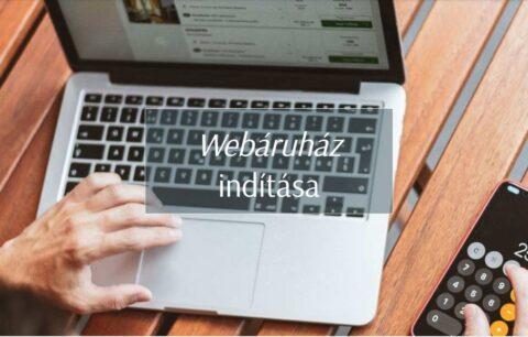webshop indítás